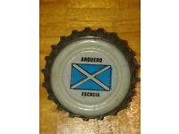 Pepsi Bottle Cap Serie Soccer Scotland FLAG. World Cup Argentina 1978. Football World Cup Cap