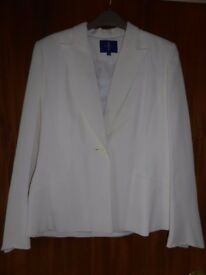 Jasper Conran off white trousers & jacket size 12/14- very good condition