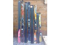 Various surplus skis