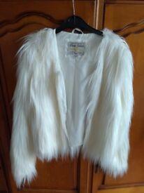 Women's White fur coat