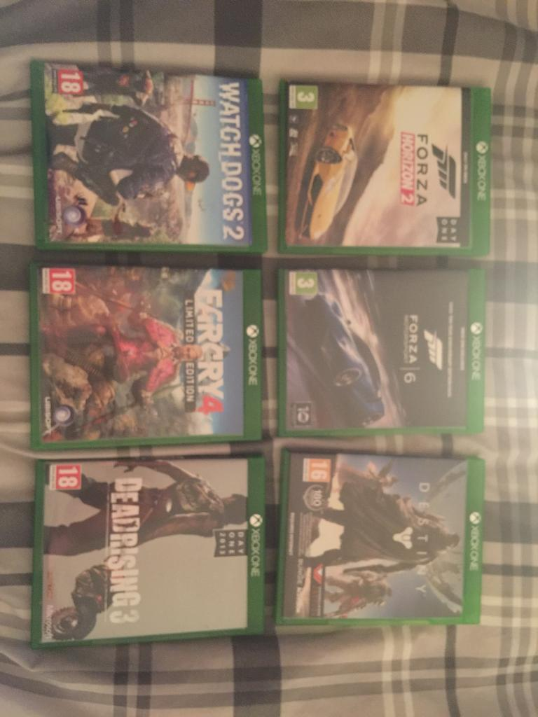 Assortment of Xbox One games