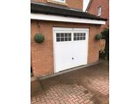 White single garage door