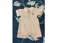 Baby boys timberland romper Size 0-3months