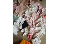 New born baby girls bundle of clothes