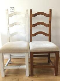 [REDUCED] 6 x Dining Chairs (one white!)