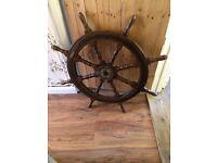 Original 8 spoke ships wheel antique