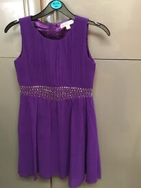 Girls purple party dress from Lipsy at Next age 9-10