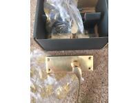 6 boxes of brass door handles and fixings