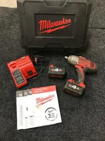 "Milwaukee M18 1/2"" impact driver gun snap on, mac,dewalt"