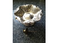 Decorative Vintage Fruit Design Silver Plated Fruit or Bread Bowl.