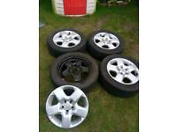 Vectra alloy look wheels may fit astra h zafira others