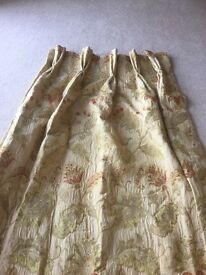 Lined and interlined triple pleat curtains in excellent condition.
