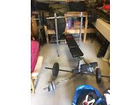 Weights dumbells benches bars