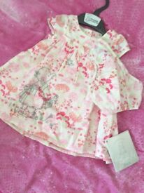 BNWT mothercare dress and knickers age 0-3 months