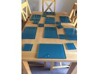 Glass placemats table mats and coasters