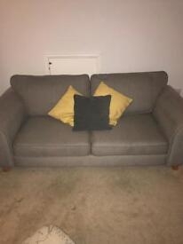 Sofa, arm chair and stool £150 ONO