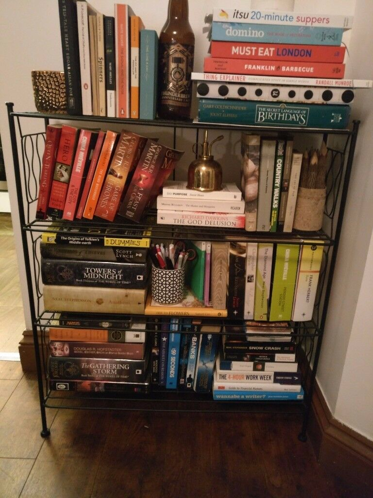 Urban Outfitters Black Wire Bookshelf