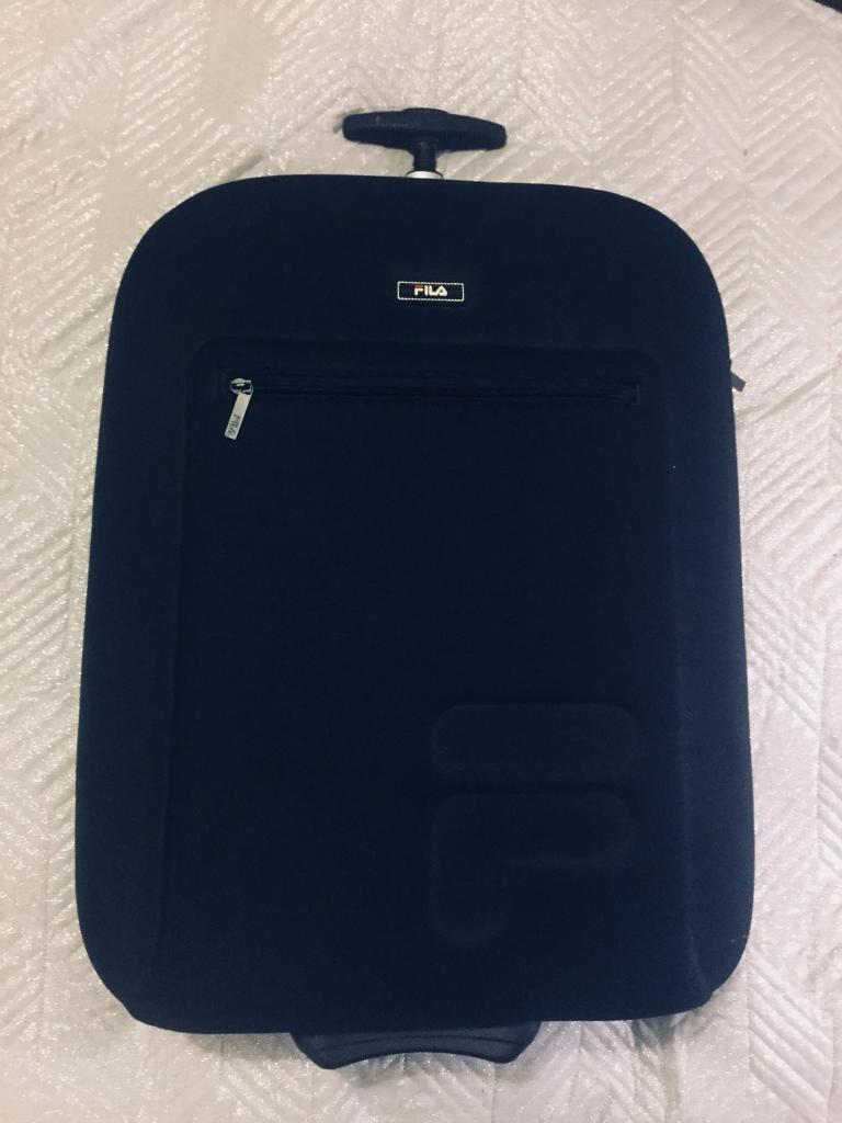95feff2a7f FILA hand luggage   cabin suitcase in black - as new