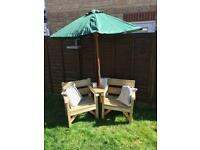 2 chair garden companion set