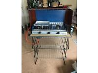 Camping cooker with grill, stand and pans £40