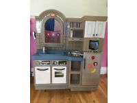 Little Tikes Inside Outside Cook N Grill Play Kitchen with Barbecue
