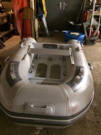 Dinghy Rib with aluminium hull 2.5m with 3.5 hp engine