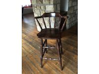 4 dark wood bar stools