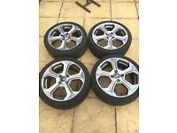 Ford Fiesta st alloys, mint condition, no curb marks, good tyres, mk7.5