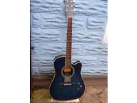 Washburn Mirage Deluxe (super thin) electro acoustic blueburst.