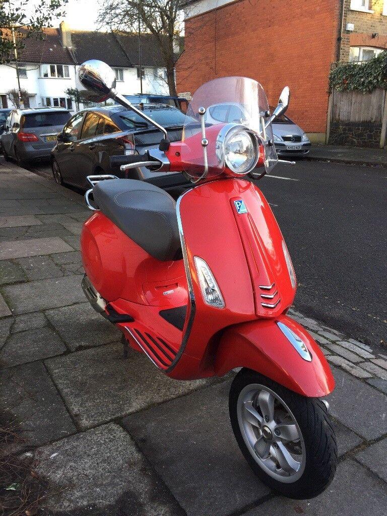2014 vespa primavera 125cc scooter red 1900 in kings cross