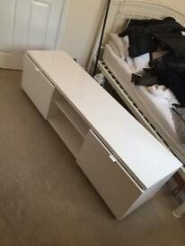 White Gloss TV Table