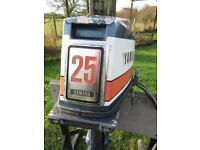 YAMAHA MARINER OUTBOARD ENGINE ELECTRIC START 25 HP 2 STROKE LONG SHAFT, used for sale  Norwich, Norfolk
