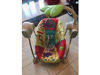 Fisher Price baby electric swing / rocker - Jungle