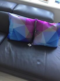 """6 brand new multi colour cushions 14"""" by 14"""""""