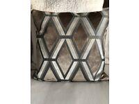 Next Velvet Geo Luxe Cushions