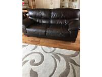 2&3 Seater Brown Leather Sofas for sale!!