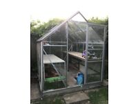 Greenhouse, 8ft x 6ft - Large Water Butt & Worktops FREE