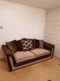 2 & 3 seater scatter back fabric sofa