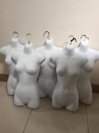 5 Headless mannequins