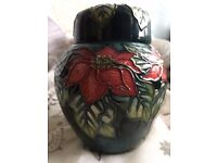 Moorcroft Poinsettia Small Ginger Jar For Sale