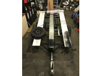 Motorcycle trailer - brand new wheel suspension units fitted, all recently refurbished