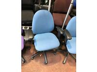 Blue computer chairs
