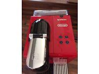 Red nespresso coffee machine EN520