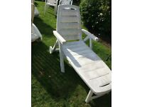 White sun lounger