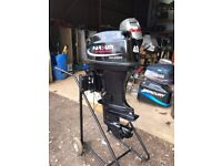 40hp Parsun 2 stroke outboard boat engine short shaft remote control electric start