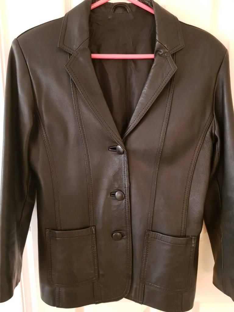 59d94836e1e2 Black Leather jacket - size 10 | in Maidenhead, Berkshire | Gumtree