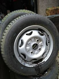 3 off wheels and tyres