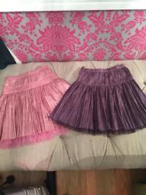 2 lovely girls Monsoon skirts age 7-8 never worn