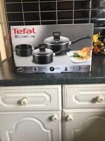 Tefal 3 piece saucepan set