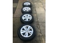 "GENUINE VW Polo 15"" Sassari Alloy Wheel Set"